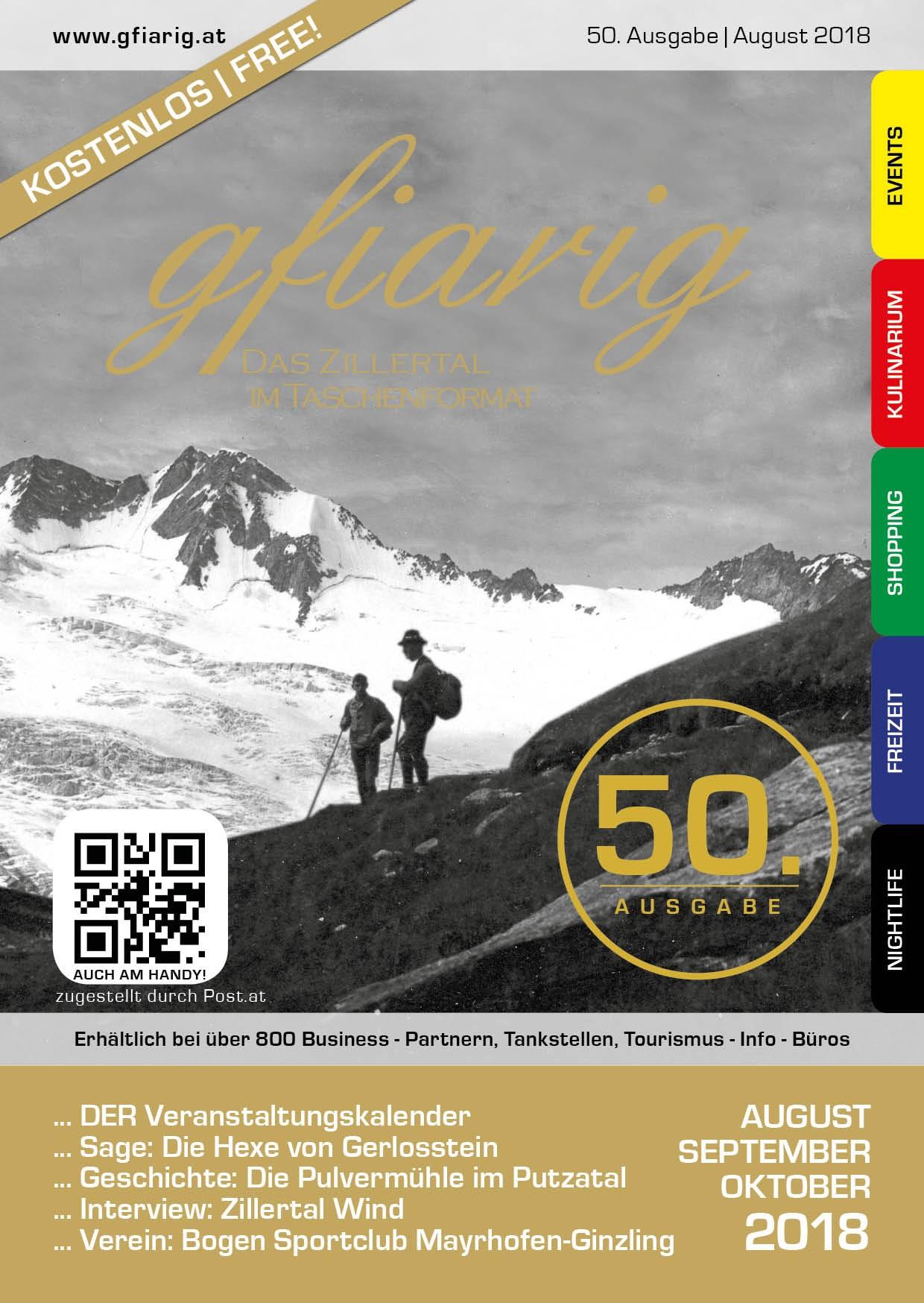 Gfiarig - 50.Ausgabe - August 2018